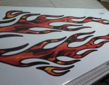 real fire flames decal graphic