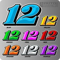 RACE CAR NUMBER COLORS