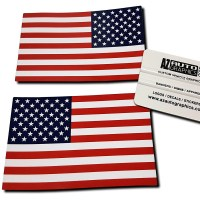 Print USA FLag Decal