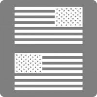 1 color american flag set
